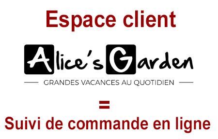 Accès à mon compte Alice's Garden et suivi de commande en ligne.