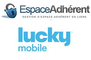 Accès et fonctionnalité de Lucky Mobile Mon compte sur le site internet et l'application mobile Lucky Mobile.